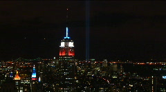 Nyc empire:freedom-static-ms night Stock Footage