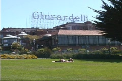 Ghirardelli sign Stock Footage