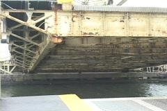 A drawbridge slowly being lowered Stock Footage