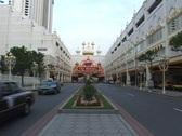 Stock Video Footage of Neon signs mark the entrance to Taj Mahal Casino in Atlantic City.