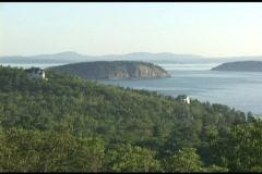 Establishing-shot of Acadia National Park, Maine. Stock Footage