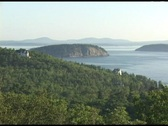 Stock Video Footage of Establishing-shot of Acadia National Park, Maine.