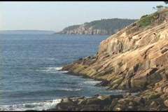 Establishing-shot of Acadia National Park, Maine. Stock Footage
