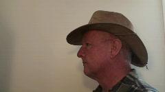 Man, outback hat, kakadu Stock Footage