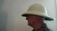 Stock Video Footage of man, person ,pith helmet