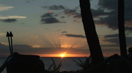 Stock Video Footage of Maui Tropical Sunset