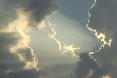 Sunlight shines through a break in the clouds. Stock Footage