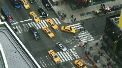NYC Times Square Intersection Stock Footage