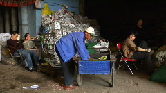 Scrap metal collector Stock Footage