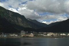 Clouds drift over Juneau, Alaska. Stock Footage