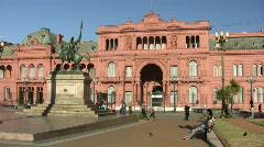 Casa Rosada Stock Footage