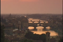 The Armor River flows through Florence. - stock footage