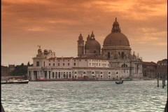 The historic Saint Mark's Square and Santa Maria Della Salute overlook the Grand Stock Footage