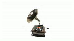 Gramophone music vintage records retro sound Stock Footage