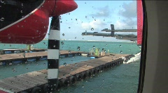 Seaplane taking off for Maldives Islands Stock Footage