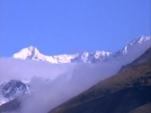 Long-shot of snow-covered Andes Mountains in Peru. Stock Footage