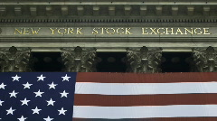 New York Stock Exchange - Zoom Out Stock Footage