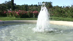 Fountain at a park Stock Footage