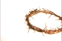A crown of thorns floats on a white background. Stock Footage