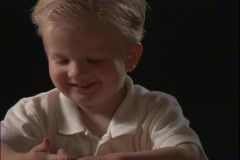 A young boy smiles. Stock Footage