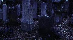 Headstone upright pan Stock Footage