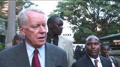 US Ambassador to Kenya Stock Footage
