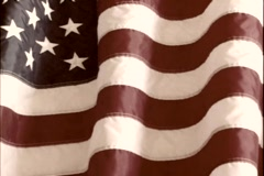 The American Flag is displayed. Stock Footage