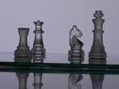 A chess player wins the match. Stock Footage