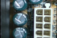 Circuits and wires comprise a computer circuit board. Stock Footage