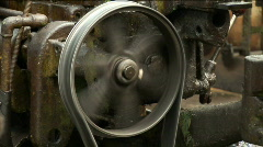 Old plant machine 04 Stock Footage