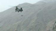 Chinooks flying over Afghanistan (HD)m Stock Footage