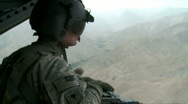 Tailgunner on a back of helo (HD) m Stock Footage