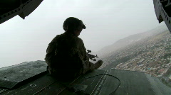 Tail Gunner in Afghanistan  (High Definition) Stock Footage
