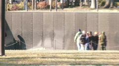 Vietnam War Memorial Wall  (HD) Stock Footage