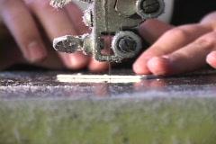 A jigsaw cuts a part. Stock Footage