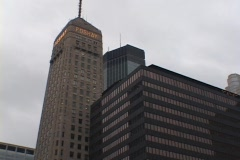 The Foshay Tower was the first skyscraper built west of the Mississippi in 1929. Stock Footage