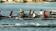 Stock Video Footage of rowing practice