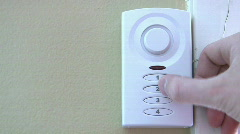 Setting House Alarm System Stock Footage