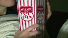 Movie Nite Popcorn Cup - stock footage