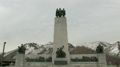 This is the Place Monument zoom tilt M HD Stock Footage