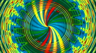 Hypnotic spiralings Stock Footage