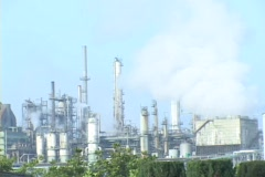 Time Lapse of a oil refinery. Stock Footage