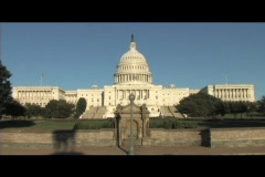 Long-shot of the United States Capitol building in Washington, DC - stock footage