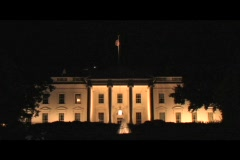 Long-shot of the White House at night. Stock Footage