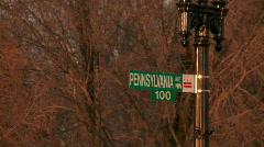Pennsylvania Avenue Street Sign (HD) Stock Footage