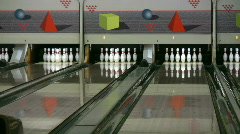 Throwing a strike 4 Stock Footage