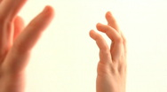 Two Hands Stock Footage