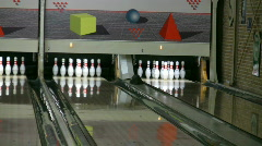 Throwing a strike 3 Stock Footage