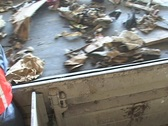 Stock Video Footage of Workers sort garbage at a recycling plant.
