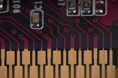 A close up of a computer circuit board. Stock Footage